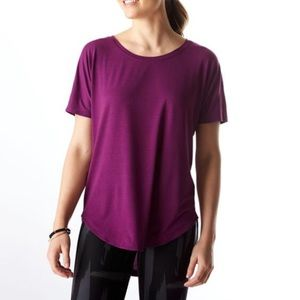 Lucy Final Rep purple scoop neck t-shirt